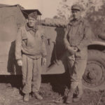 Pop Woods and T-5 Irwin with armored scout car