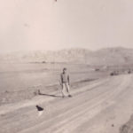 unk standing in road in wadi