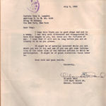 Ltr To T Lumpkin from General Orlando Ward
