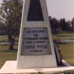 Ernie Pyle gravesite Ie Shima Japan