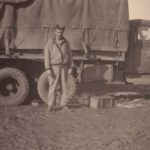 soldier and 2.5 ton truck in the mud