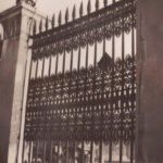 London – large iron fence