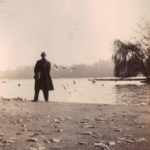 London – man in front of lake