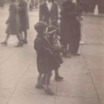 London – two children on sidewalk