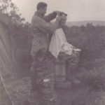 unknown soldier getting haircut