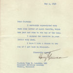 Letter to T Lumpkin from Harry Truman