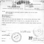 Telegram to Elizabeth Lumpkin re: Capture of Tony Lumpkin
